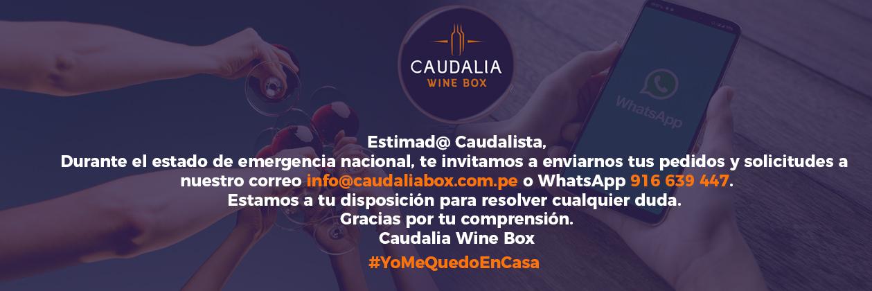 #yomequedoencasa #caudaliawinebox