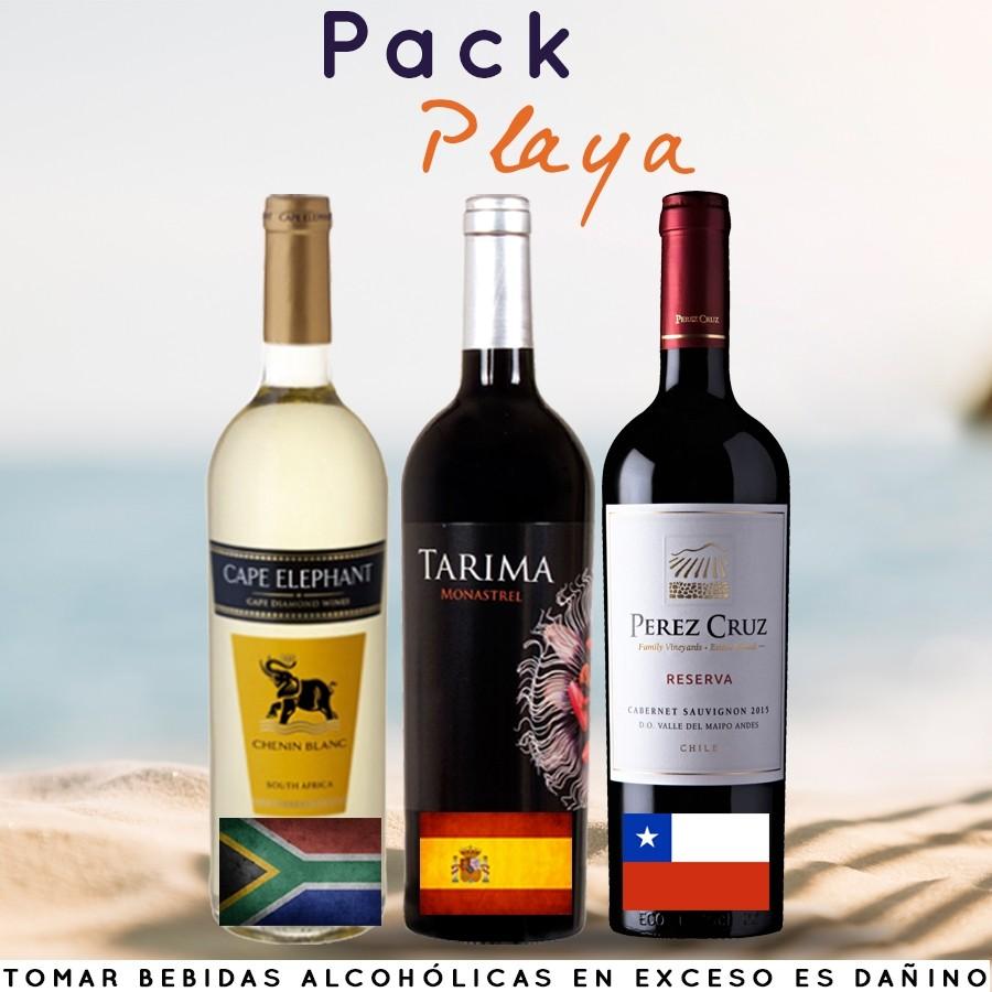 Pack BCP especial para playa 3 vinos (2 tintos + 1 blanco)