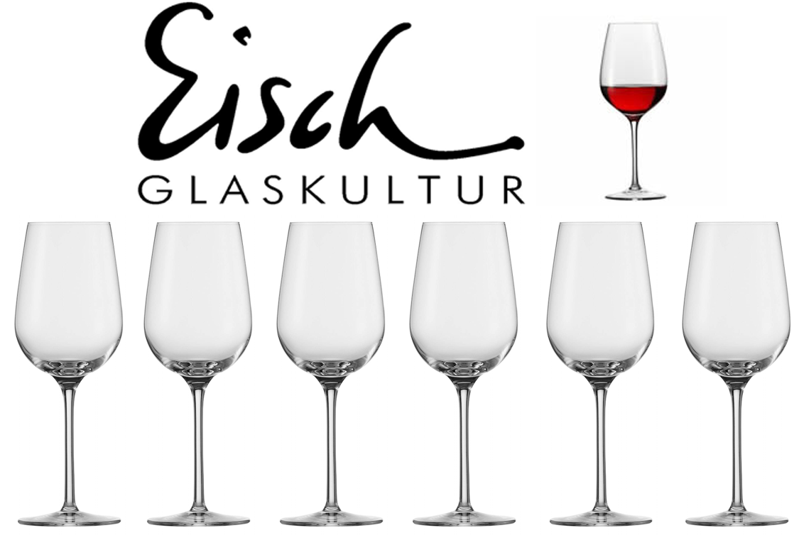 Pack de 6 copas de cristal Eisch para vino tinto