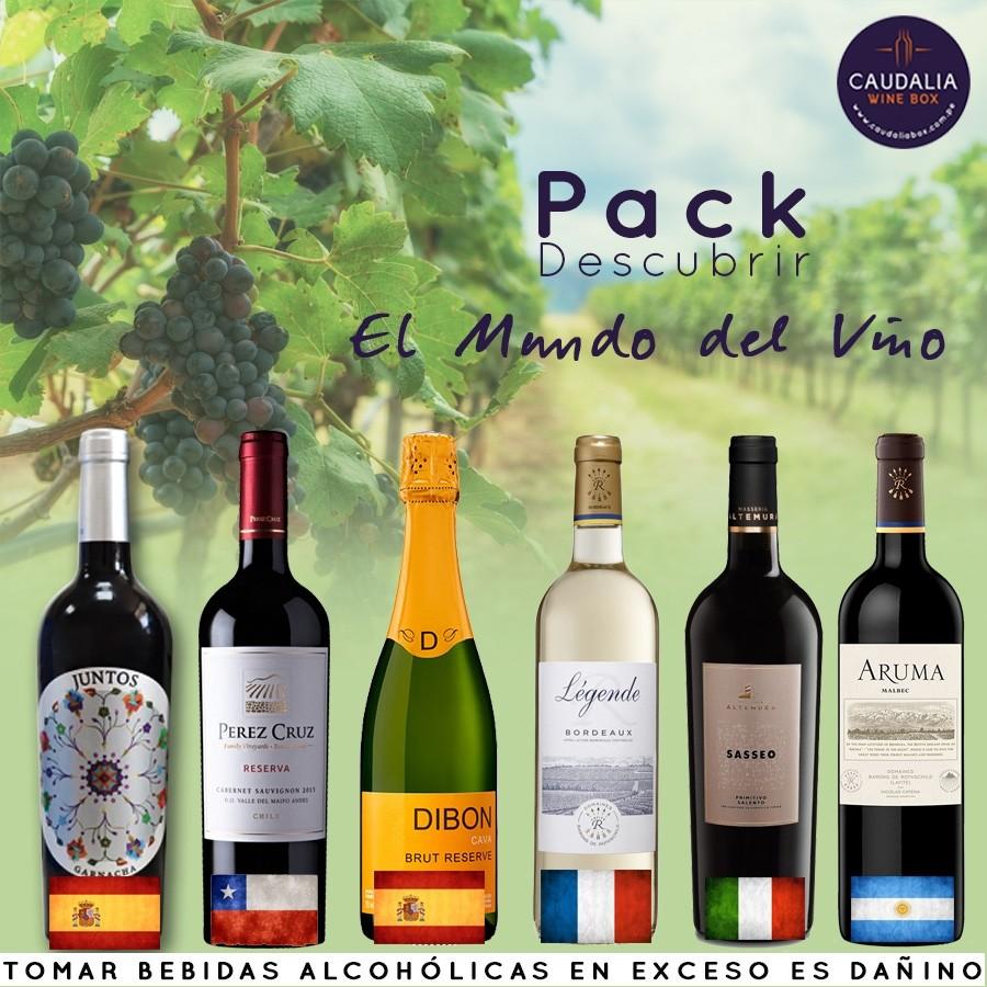 Pack Caudalia Mundo del vino 6 botellas