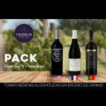 Pack especial de 3 vinos tintos Premium del mundo
