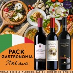 Pack Gastronomía Italiana 3 vinos tintos Caudalia