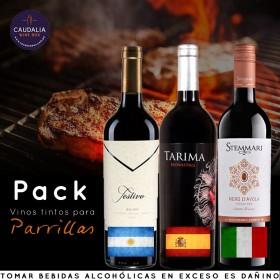 Pack especial 3 vinos tintos para parrillas