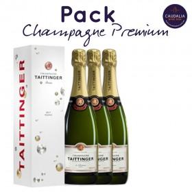 Pack 3 botellas de Champagne Taittinger Brut Réserve