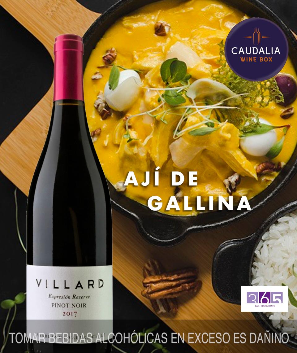 Caudalia wine Box Septiembre 2019 Chile Pinot Noir