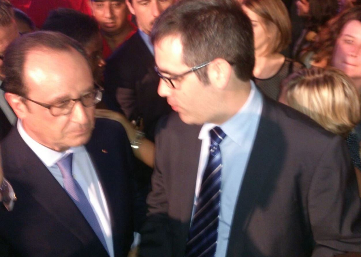 Caudalia Wine Box y el presidente Hollande 1