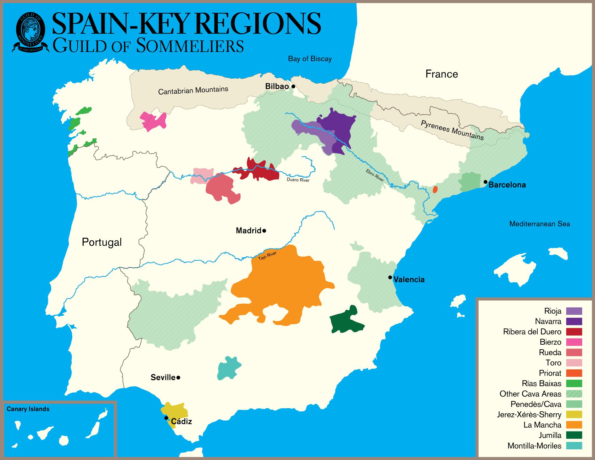 Mapa Cava