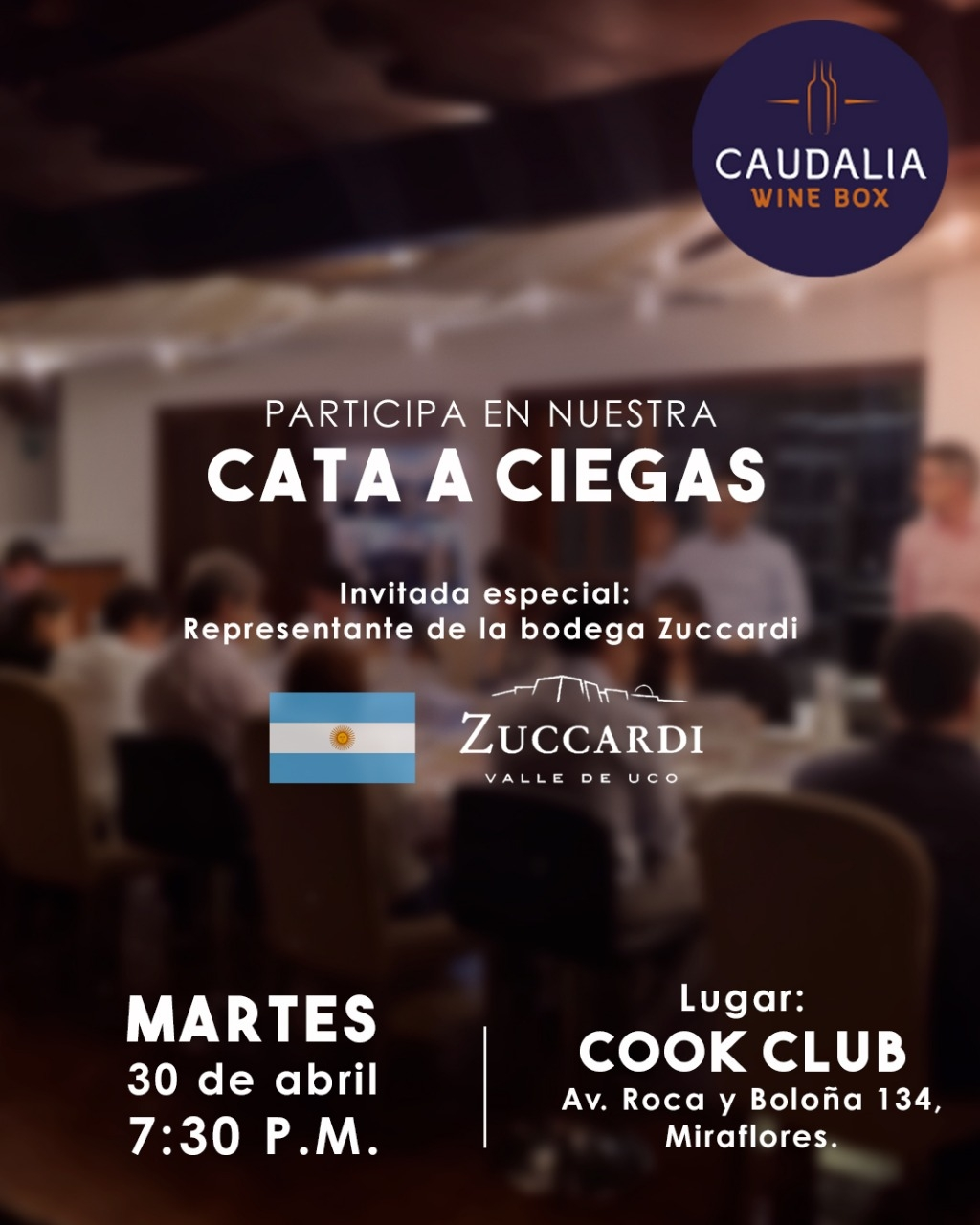Caudalia Wine Discoveries abril 2019. Bodega Zuccardi