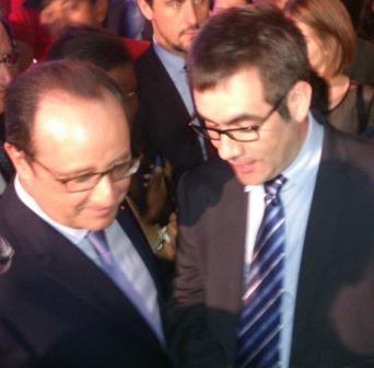 Caudalia Wine Box y el presidente Hollande 2