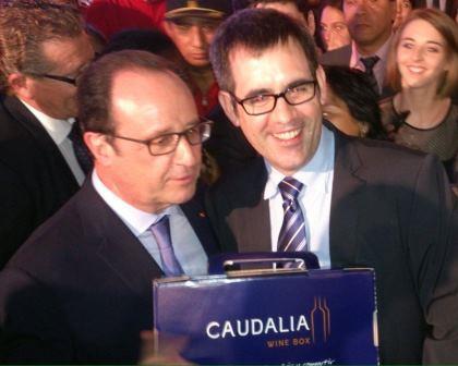 Caudalia Wine Box y el presidente Hollande 4