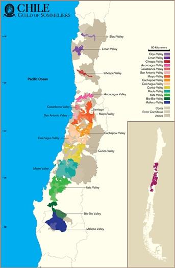 Mapa Chile Caudalia Wine Box Noviembre 2016