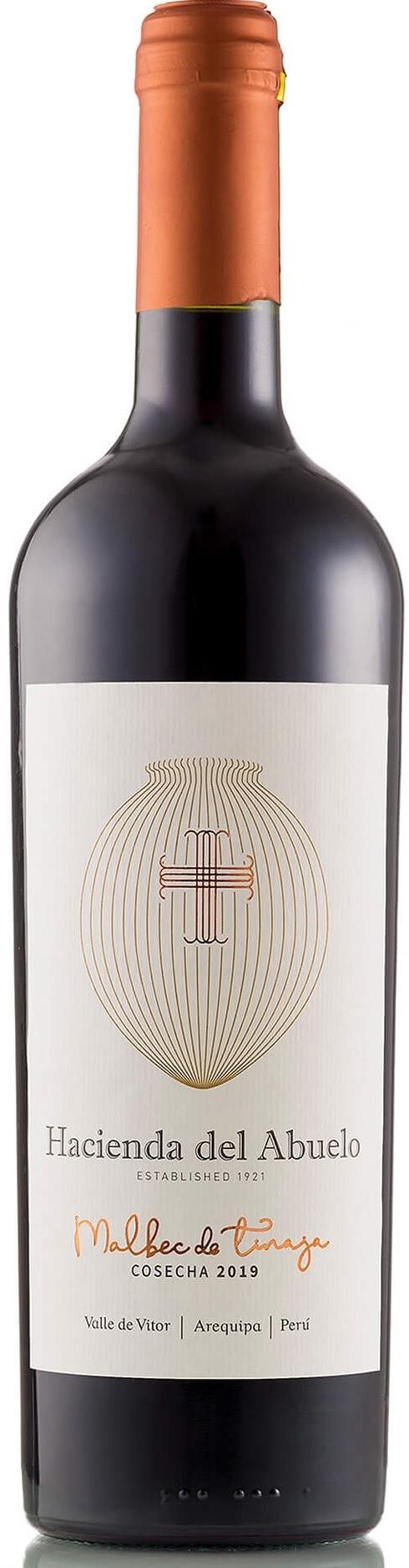 Caudalia wine Box Julio 2021 Peru Hacienda del Abuelo - Malbec de Tinaja - Arequipa - 2019