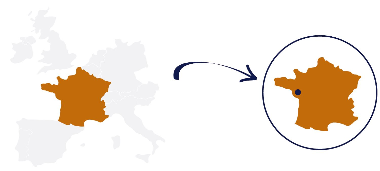 Mapa Francia Caudalia Wine Box