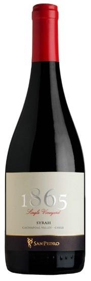 VIÑA SAN PEDRO - 1865 - SYRAH - 2014 VALLE DE CACHAPOAL - CHILE Caudalia Wine Box Septiembre 2017