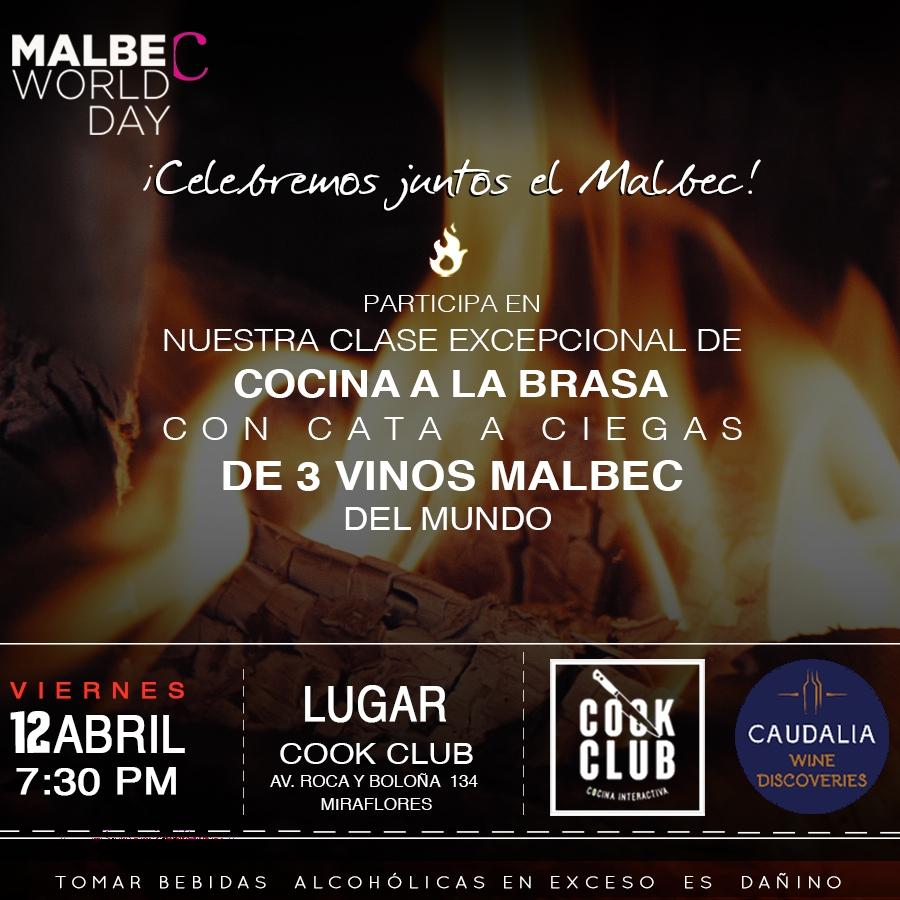 taller de cocina a la brasa con cata de vinos Malbec del Mundo abril 2019